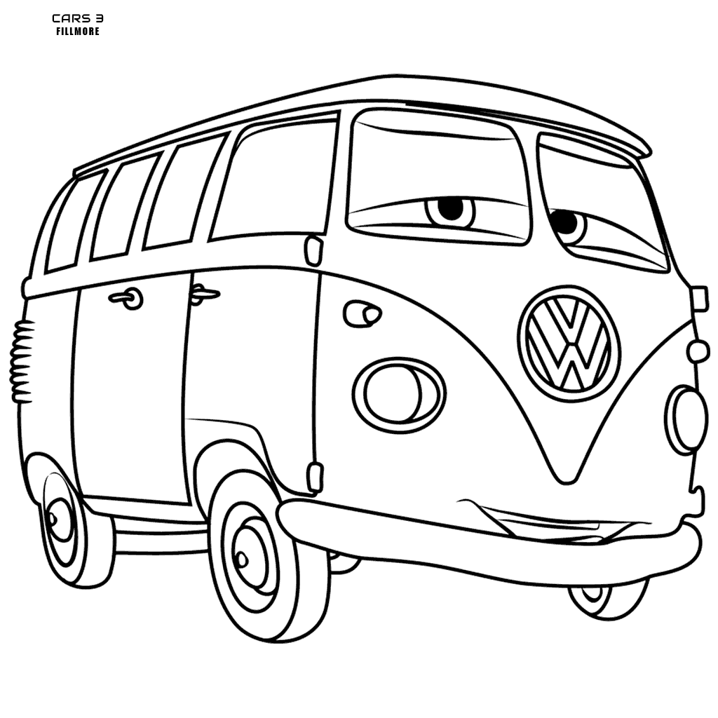 1024x1024 Cars Colouring Fillmore Volkswagen Bus
