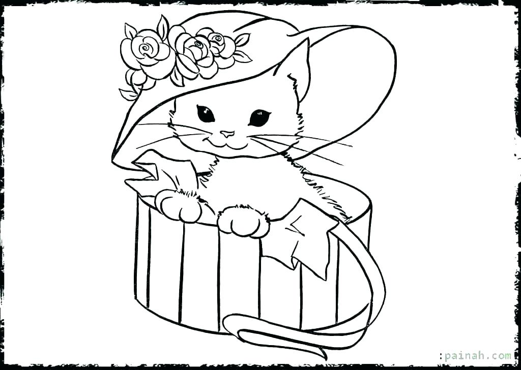 1024x728 Coloring Pages Kittens Beautiful Free Printable Cat Coloring Pages