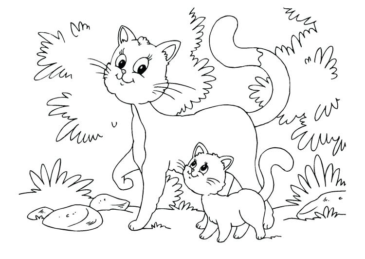 750x531 Cat And Kitten Coloring Pages Ear Of Corn Coloring Page Coloring