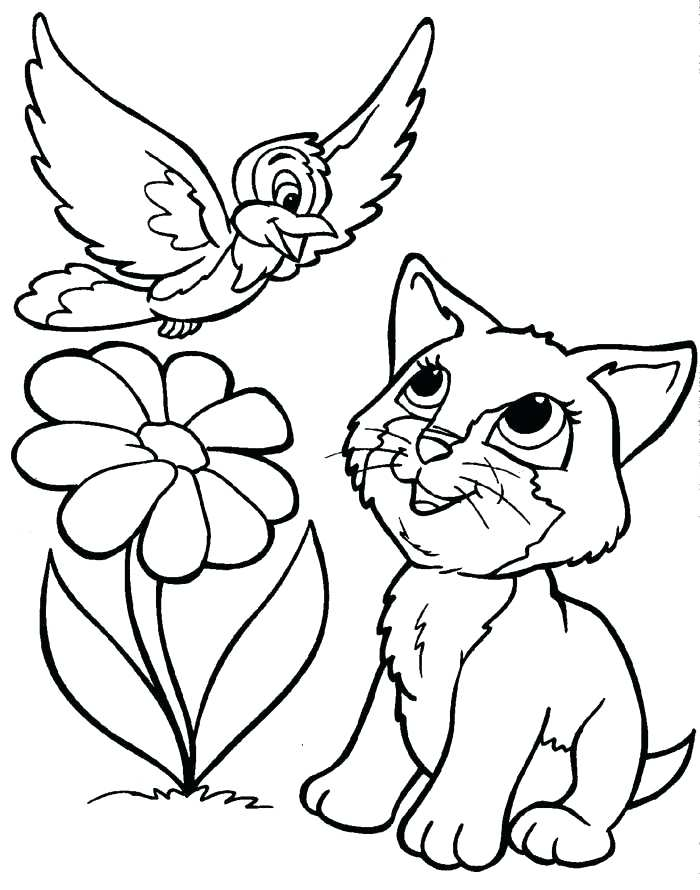 700x890 Kitten Coloring Pages Cats And Kitten Coloring Pages Kids Cat Free