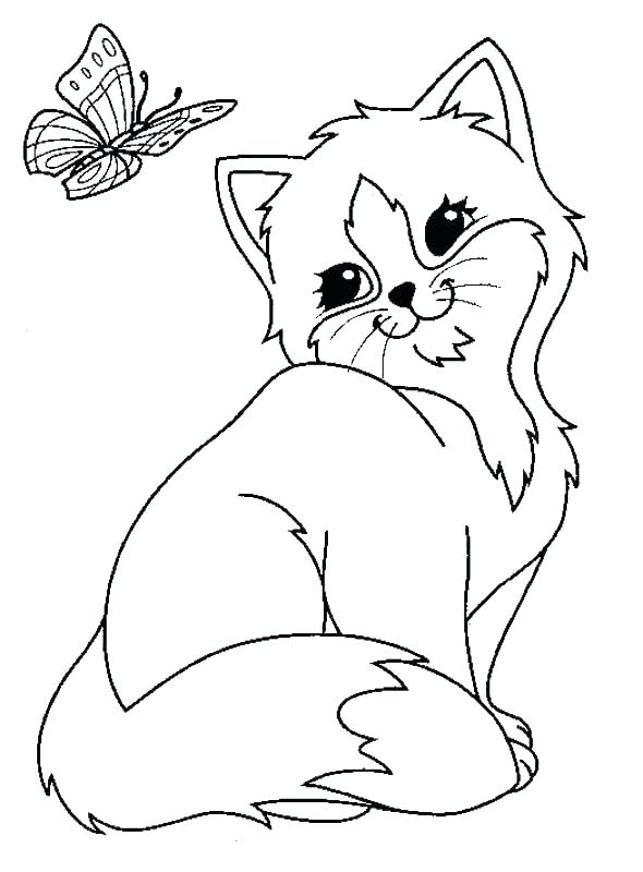 590x800 Kitty Coloring Pages Black Cat Coloring Page Kitty Coloring Page