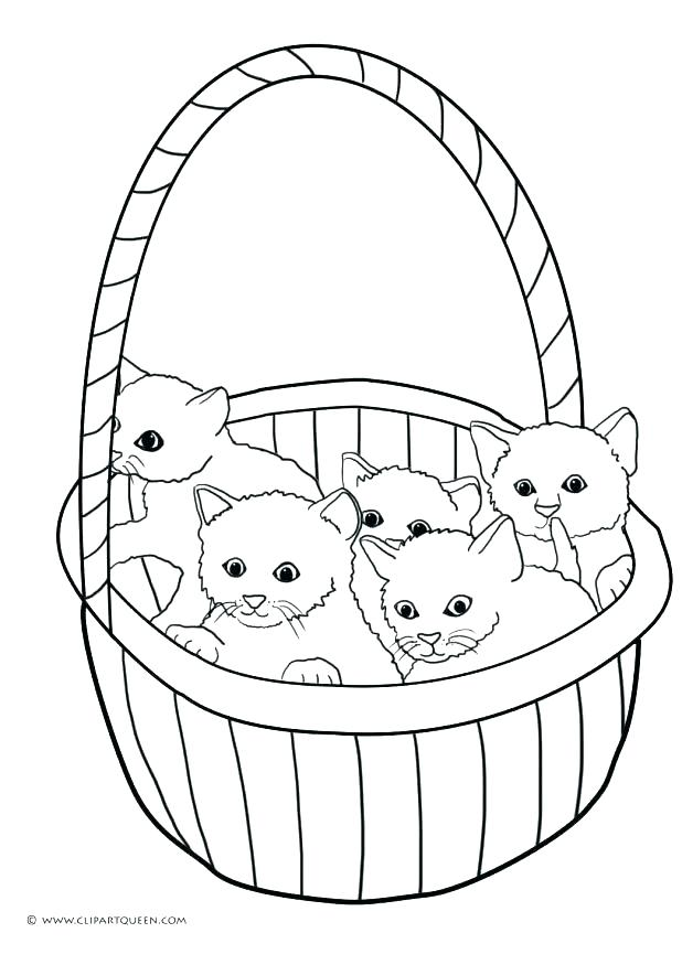 618x875 Coloring Cute Kittens Coloring Pages Pig Kitten Free Printable