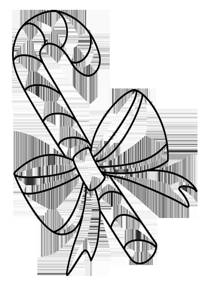 Coloring Pages Christmas Candy Cane