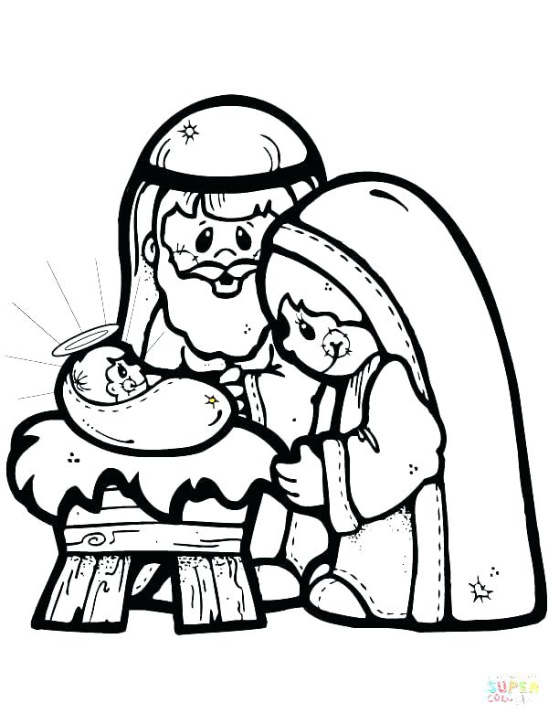 612x792 Christmas Scene Coloring Pages Colouring Pages Christmas Nativity