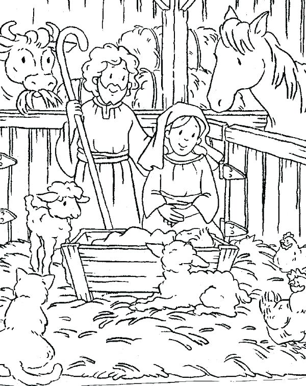 600x757 Christmas Scene Colouring Pages Colouring Pages In Scene Coloring