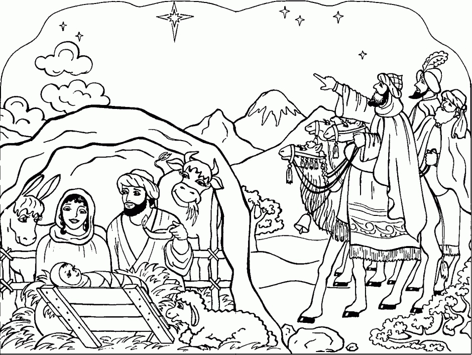 940x707 Nativity Coloring Page New Coloring Pages Christmas Nativity