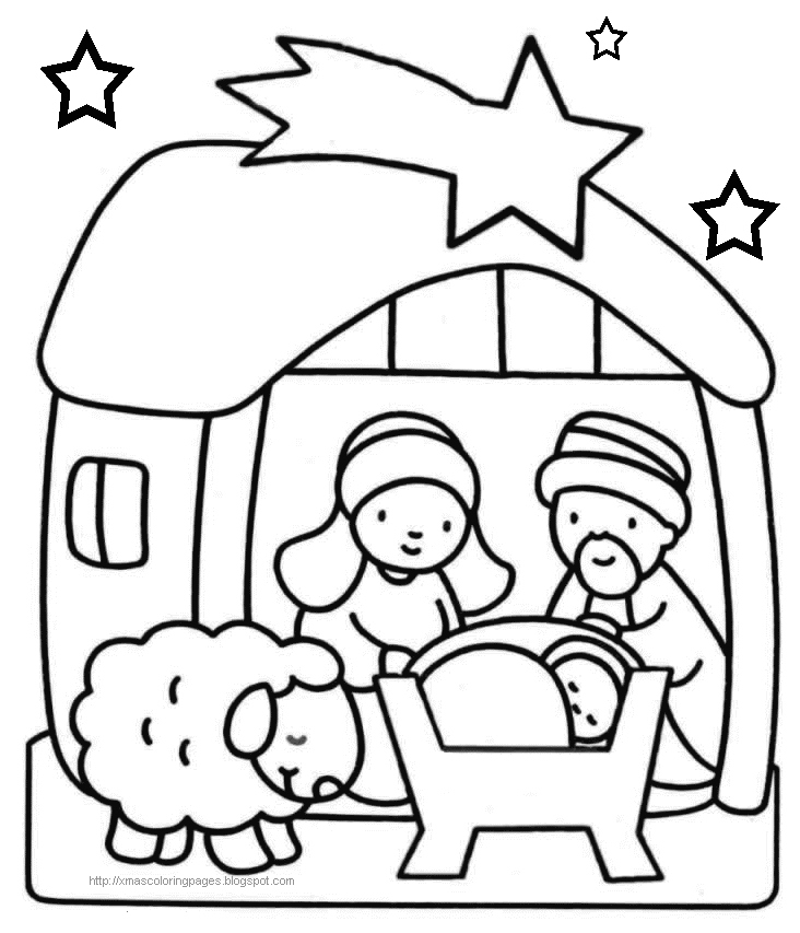 732x853 Nativity Coloring Pages Unique Xmas Coloring Pages Logo