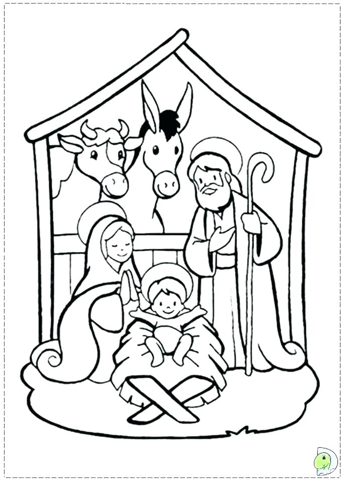 691x960 Nativity Coloring Sheets