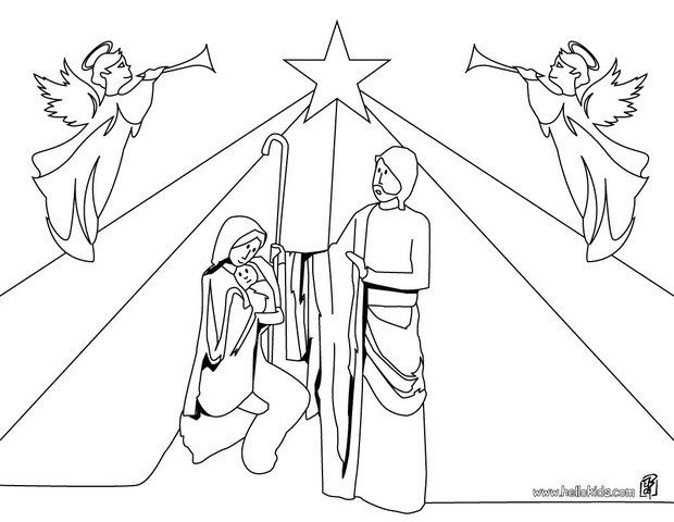 620x480 Christmas Crib Coloring Pages