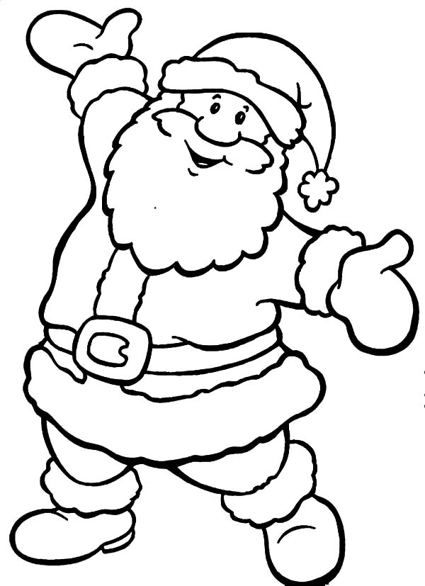 Coloring Pages Christmas Santa At Getdrawings Com Free For