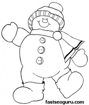 Coloring Pages Christmas Snowman At Getdrawings Com Free For