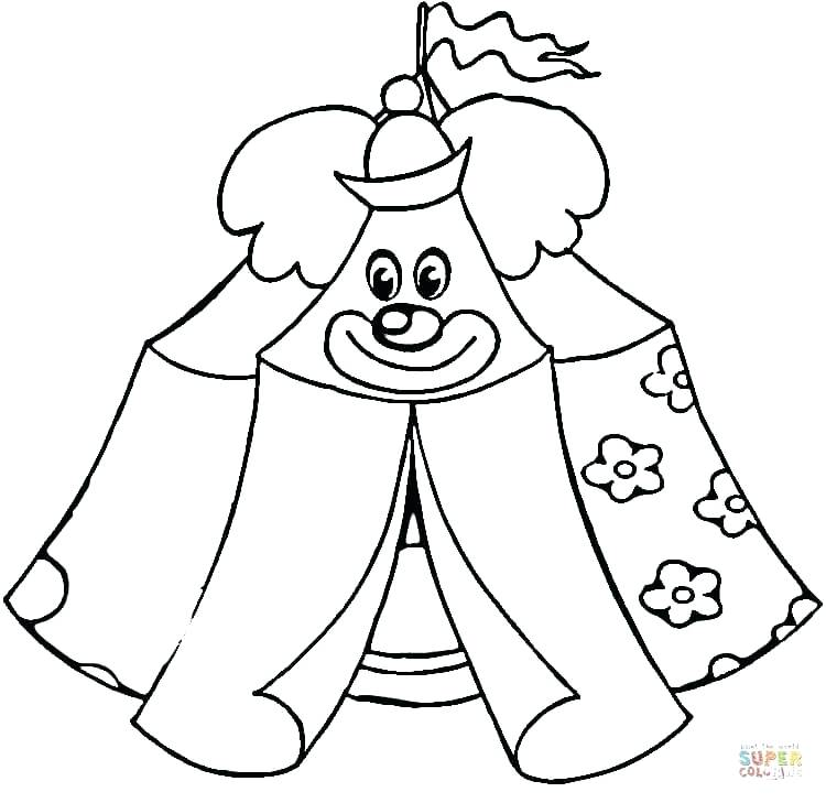 750x729 Circus Coloring Page Circus Tent Circus Clown Coloring Pages