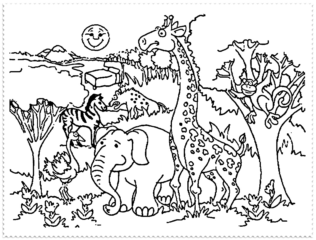1066x810 Impressive Zoo Coloring Sheets Coloring Page Gallery
