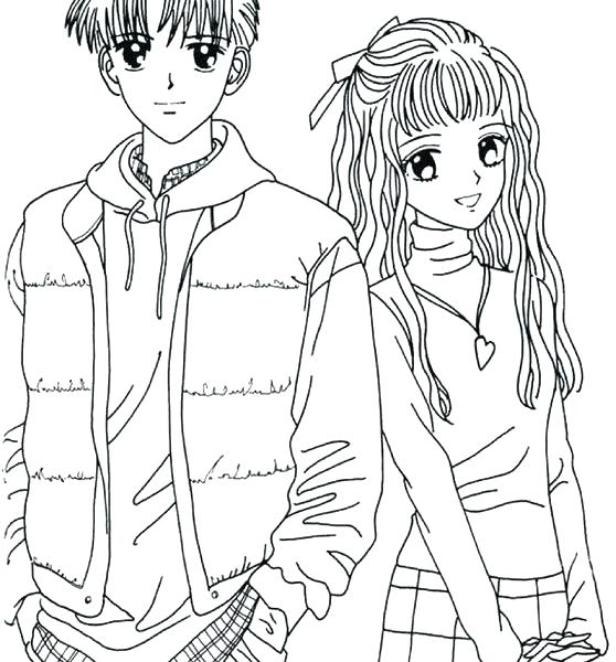 558x600 Coloring Pages Of Couples Cute Couple Coloring Pages Download Cute