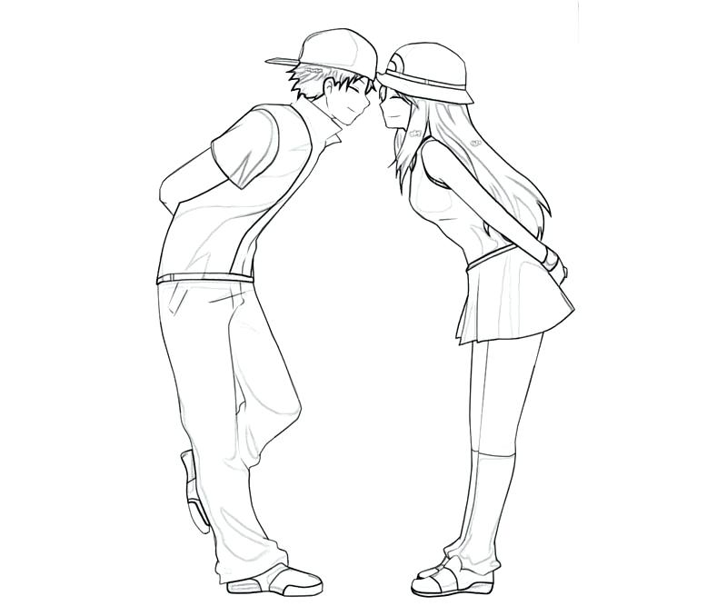 800x667 Cute Couple Coloring Pages Coloring Pages Of Couples Draw Anime