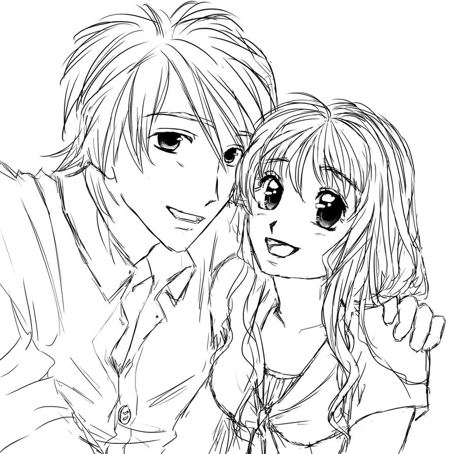 893x895 Neoteric Design Inspiration Anime Couples Coloring Pages Wolf