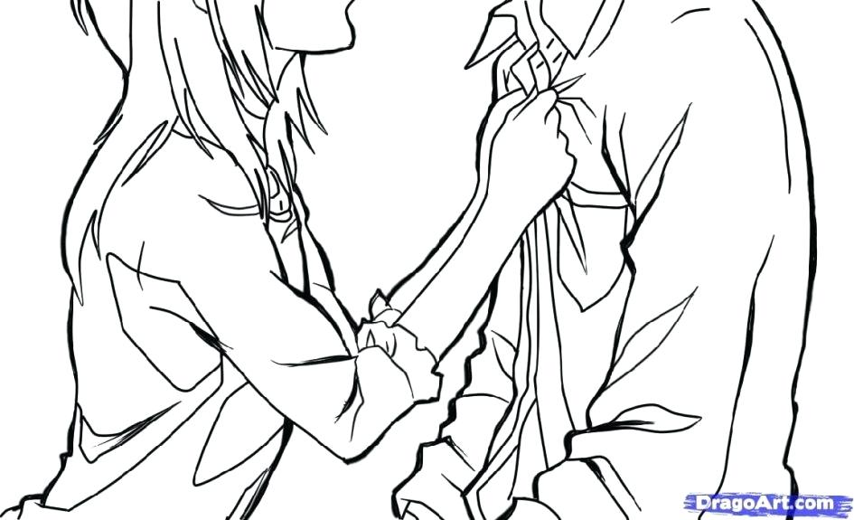 945x575 Astonishing Astounding Cute Anime Couples Coloring Pages Best