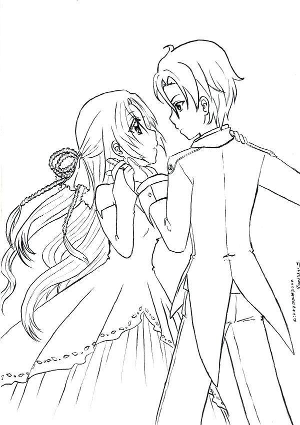 600x851 Anime Couples Coloring Pages Couple Anime Coloring Page Sky Cute