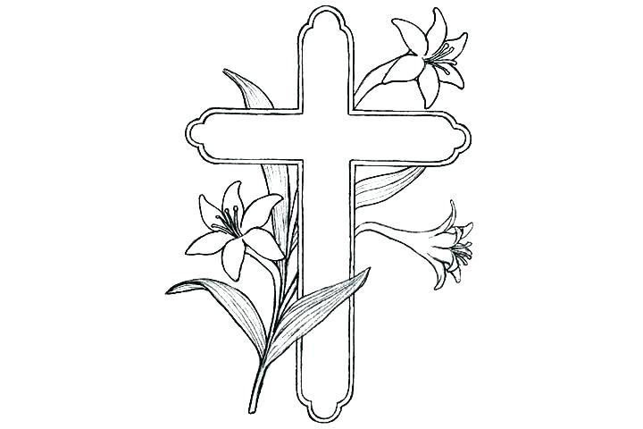 Coloring Pages Cross With Wings