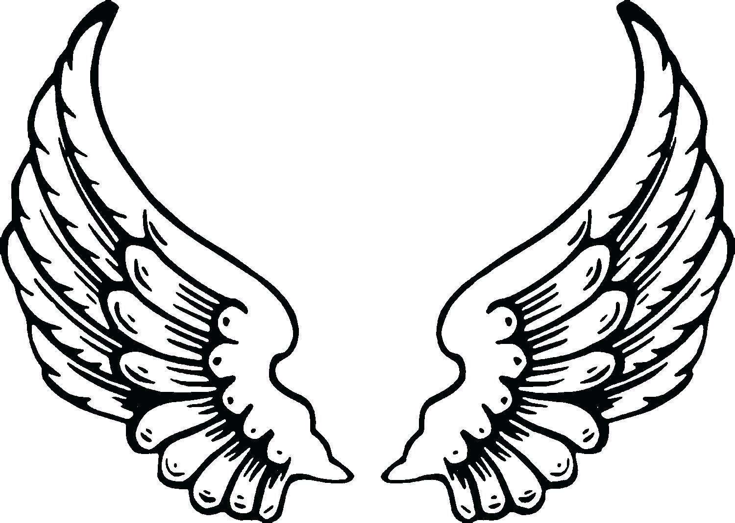 1500x1069 Coloring Pages Of Wings Cross With Page Free Printable