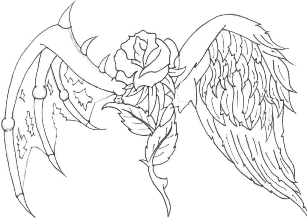 Coloring Pages Cross With Wings At Getdrawings Com Free For