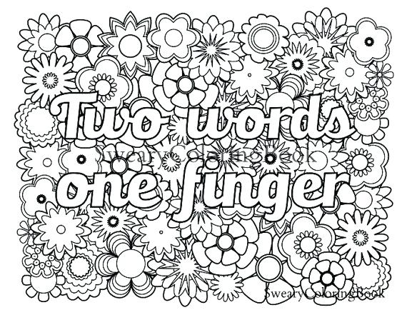 570x441 Sight Words Coloring Pages Christmas Two Words One Finger Swear