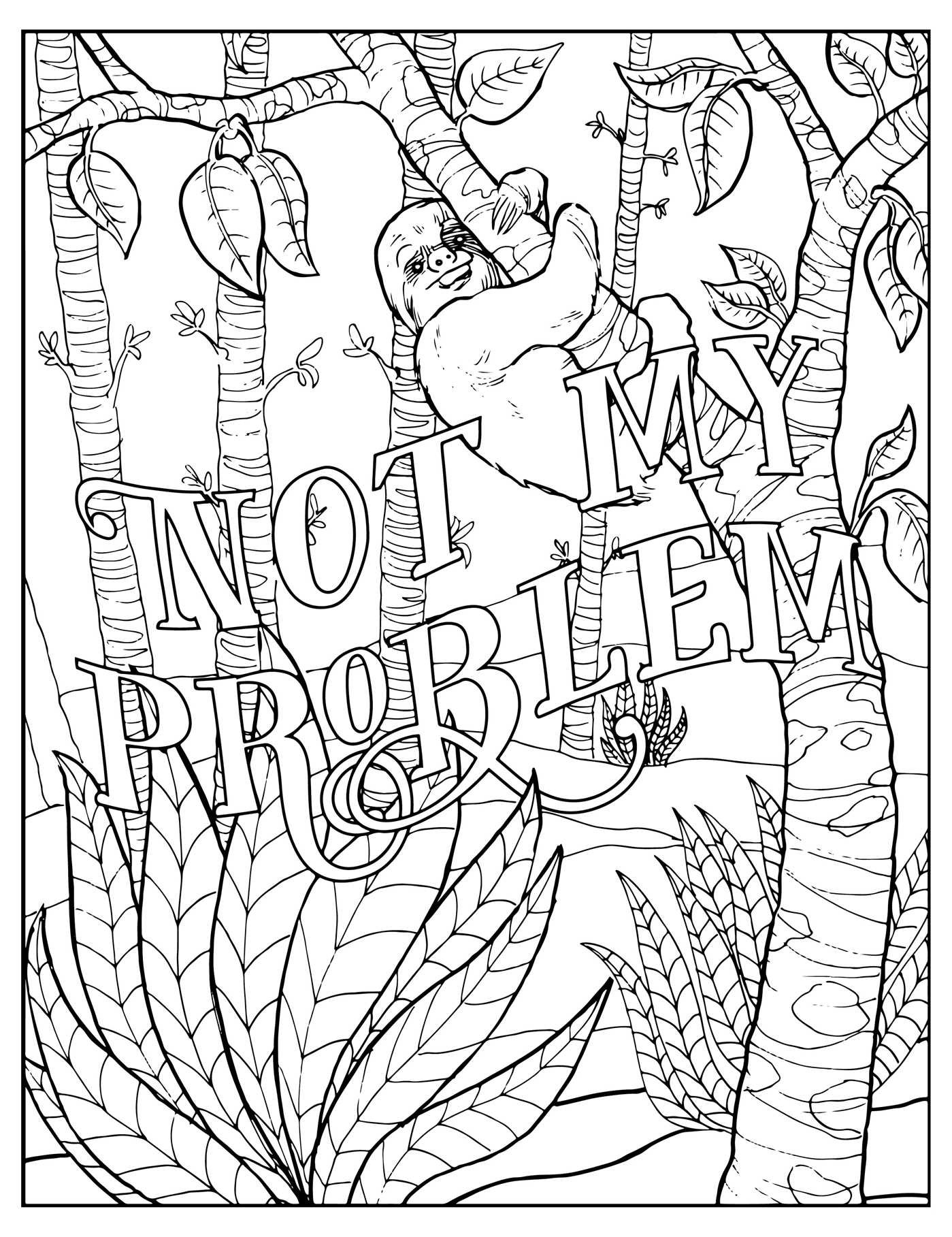 1399x1817 Swear Word Coloring Pages Free Free Printable Adult Coloring
