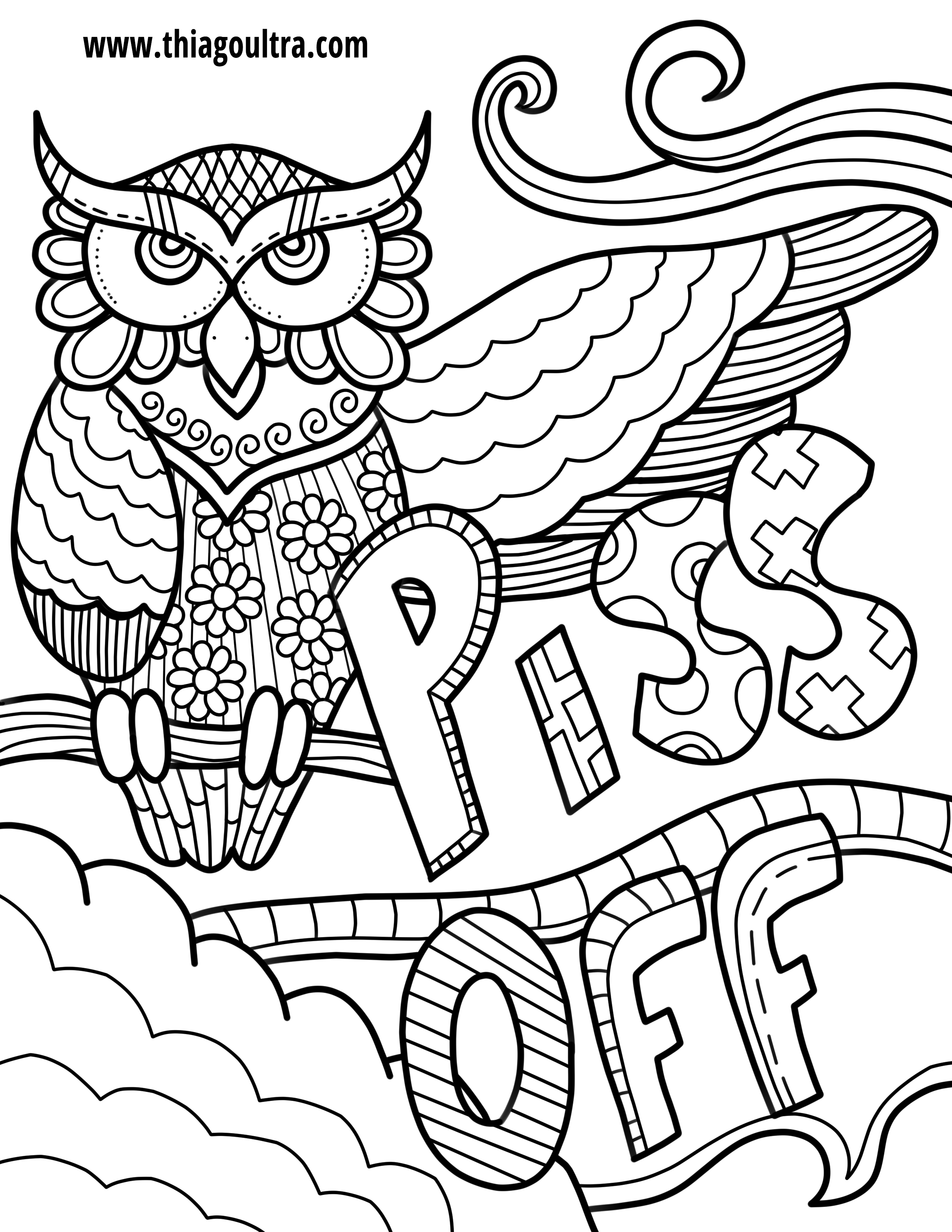2550x3300 Terrific Free Printable Coloring Pages For Adults Swear Words