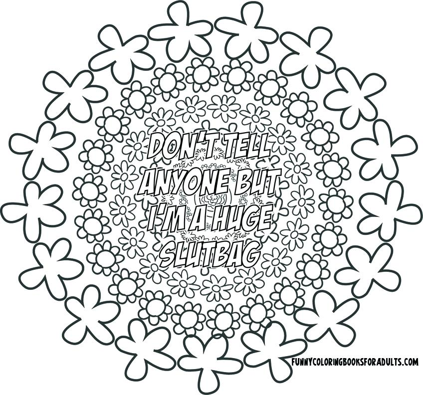 The best free Swear coloring page