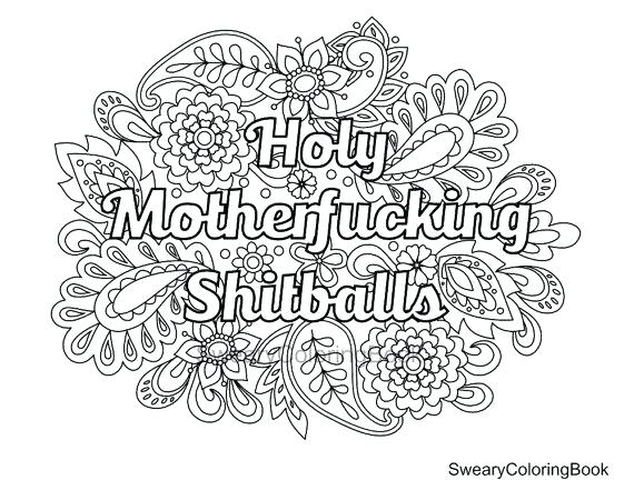 570x441 Cuss Word Coloring Pages