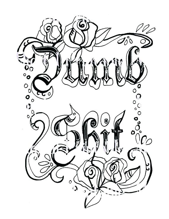 570x738 Cuss Word Coloring Pages