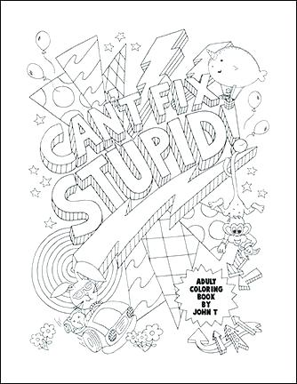 334x432 Free Printable Curse Word Coloring Pages