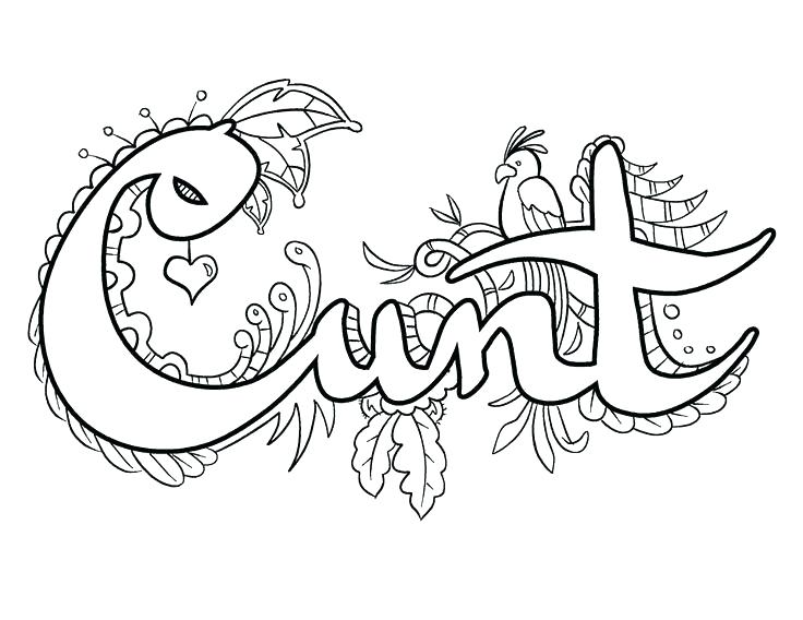 736x568 Swear Word Coloring Pages Printable Free