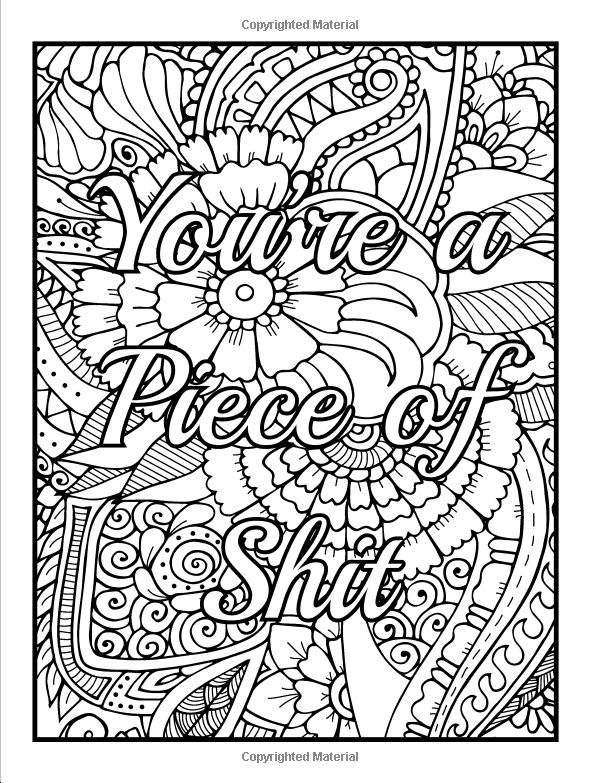 Coloring Pages Cuss Words