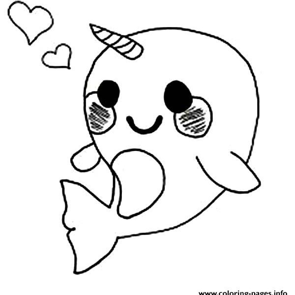 600x600 Really Cute Coloring Pages Cute Ba Narwhal Coloring Page Coloring