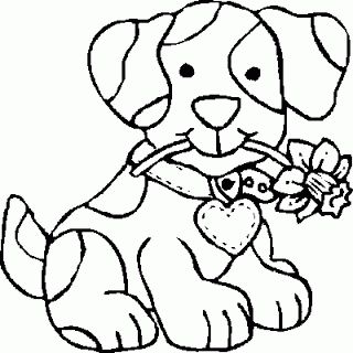 Coloring Pages Cute Dogs