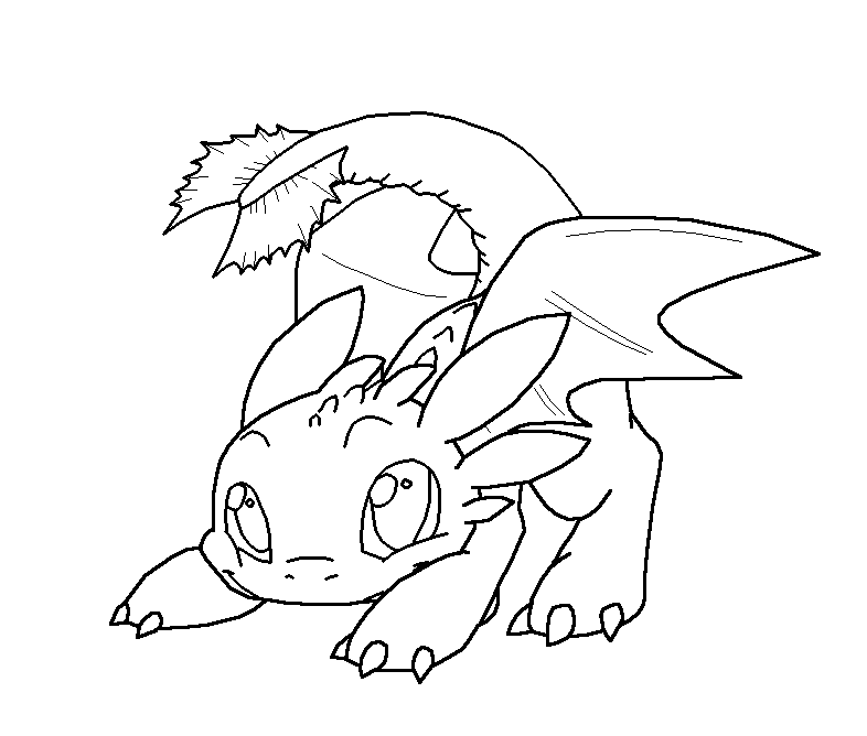 Coloring Pages Cute Dragons