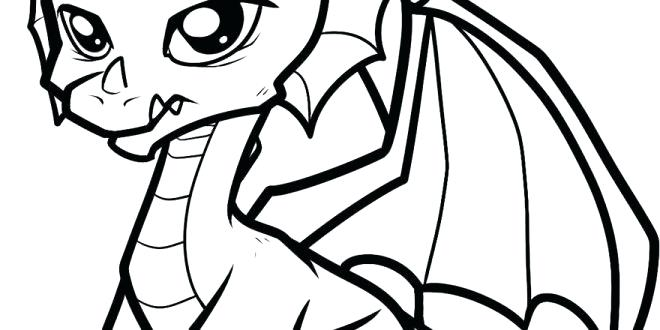 660x330 Baby Dragon Coloring Pages Cute Dragon Coloring Pages