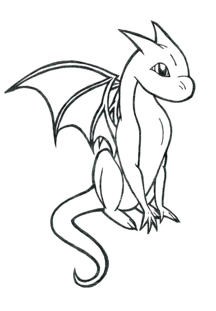 736x1058 Free Dragon Coloring Pages Cute Dragon Coloring Pages Baby Dragon