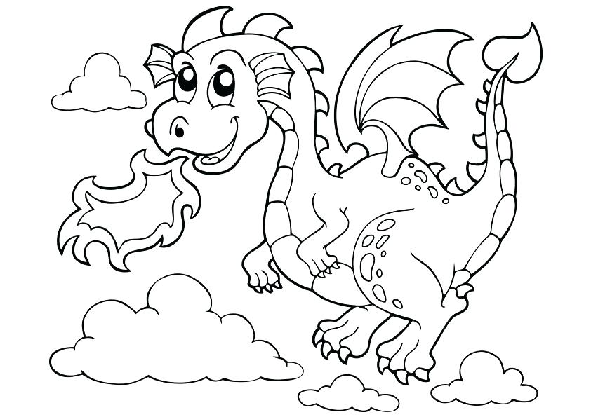 842x595 Printable Dragon Coloring Pages Media Printable Dragon Coloring