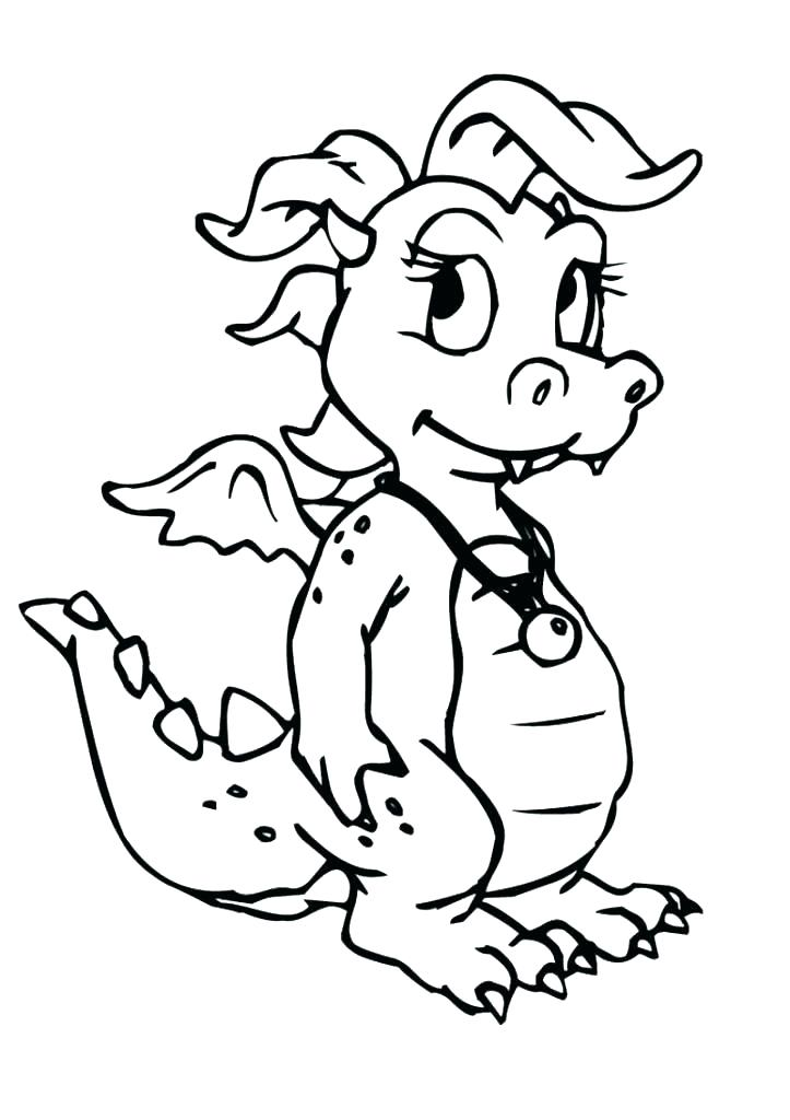 723x1024 Wonderful Dragons Coloring Pages Cute Dragon Coloring Pages Dragon