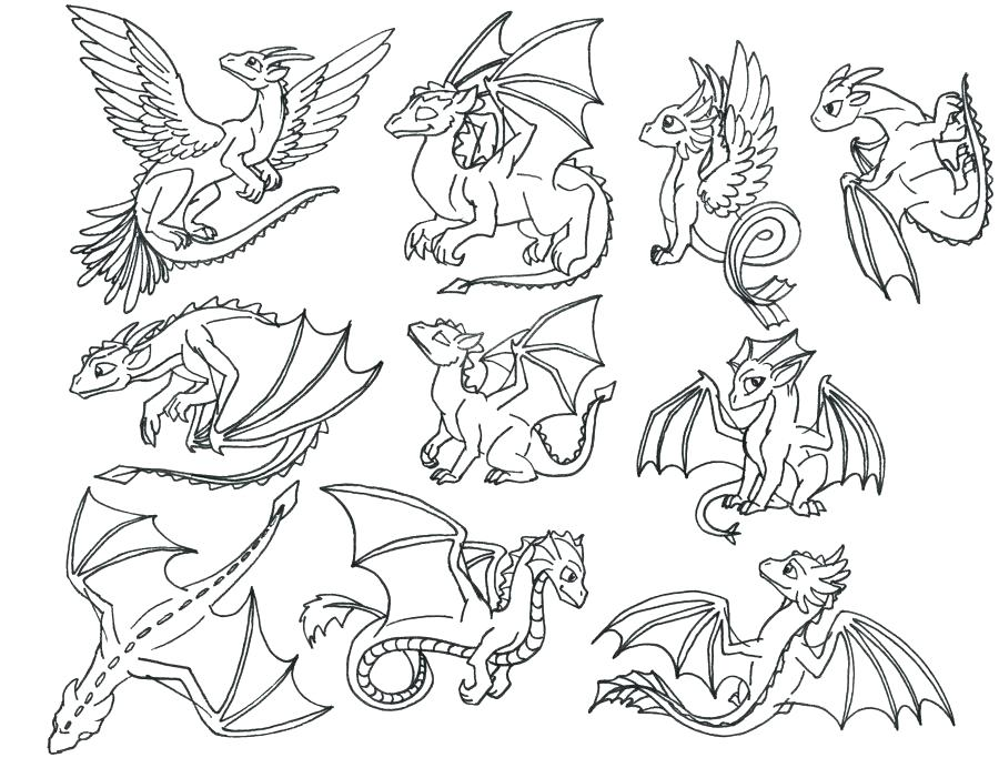900x701 Baby Dragon Coloring Pages