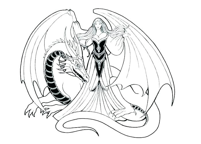 700x500 Cute Dragon Coloring Pages