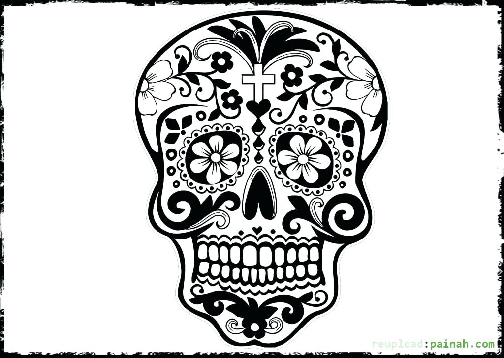 1024x728 Day Of The Dead Coloring Pages For Adults Day Of The Dead Coloring