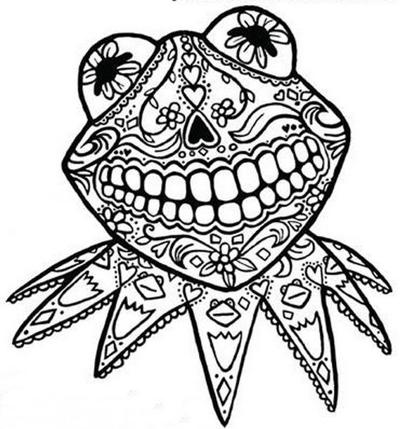 569x611 Day Dead Coloring Pages Day Of The Dead