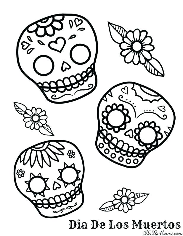 618x800 Day Of Dead Coloring Pages Day Of The Dead Coloring Page Free