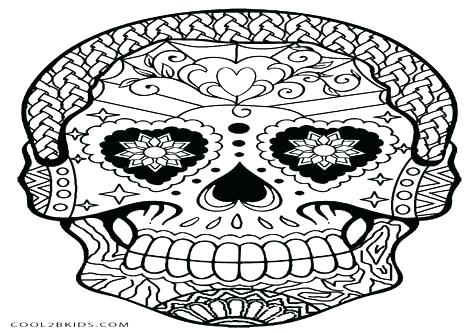 476x333 Day Of The Dead Color Pages Free Day Of The Dead Skull Coloring