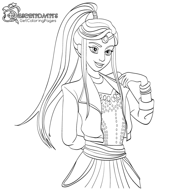 800x800 Descendants Wicked World Coloring Pages