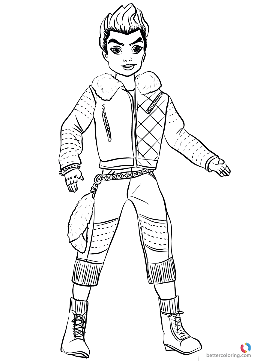 Coloring Pages Descendants 2 At Getdrawings Com Free For