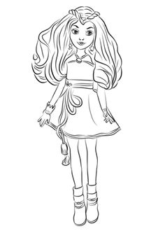 236x330 Uma Descendants Coloring Page Free Movie Coloring Pages